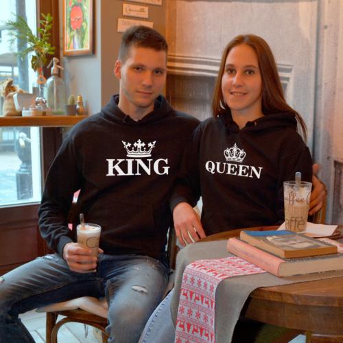 Classic Queen & King páros pulóver