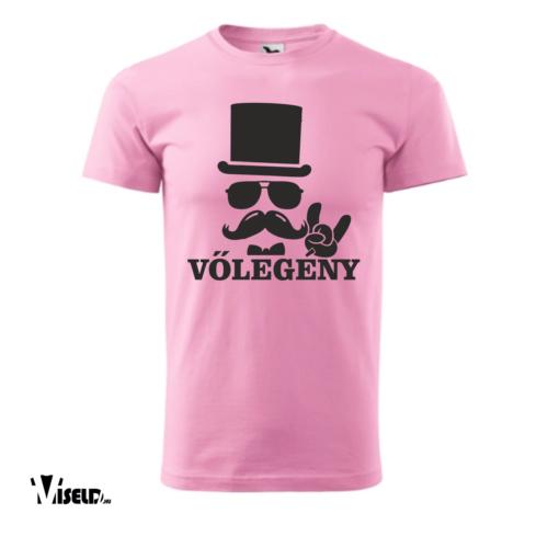 legénybúcsú vőlegény rózsaszín póló