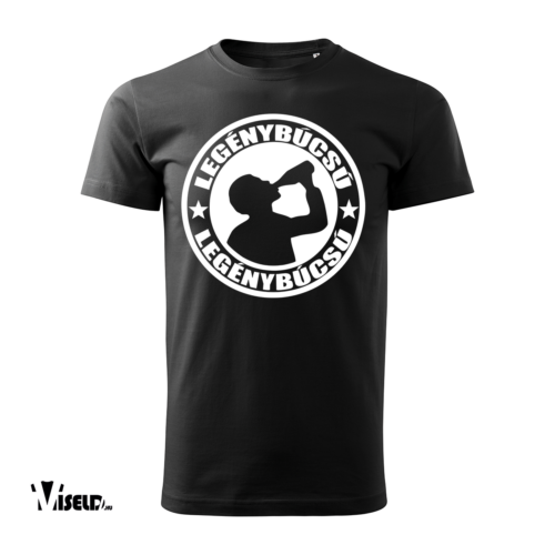 legénybúcsú fekete póló