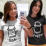 Kép 2/2 - Salt and pepper barátnős páros póló